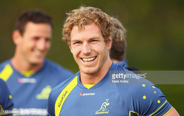 David Pocock looks on during a Wallabies training session at Weigall Fields on May 29, 2012 in Sydney, Australia.
