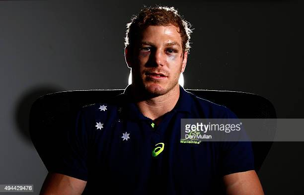 David Pocock of Australia poses for a portrait during an Australia media session at The Lensbury Hotel on October 27, 2015 in London, United Kingdom.