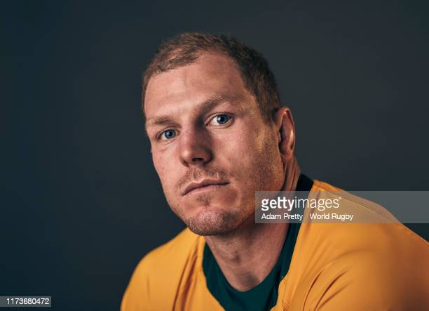 David Pocock of Australia poses for a portrait during the Australia Rugby World Cup 2019 squad photo call on September 10, 2019 in Odawara, Kanagawa,...