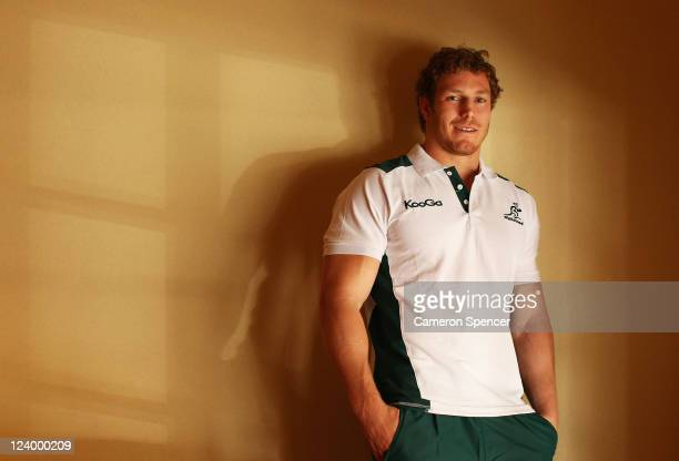 David Pocock of the Wallabies poses during an Australia IRB Rugby World Cup 2011 media session at Crowne Plaza on September 8, 2011 in Auckland, New...