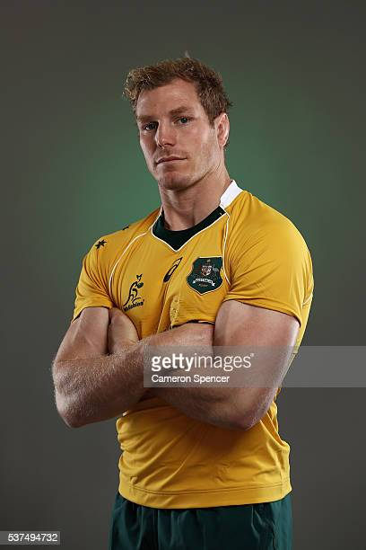 David Pocock of the Wallabies poses during an Australian Wallabies portrait session on May 30, 2016 in Sunshine Coast, Australia.