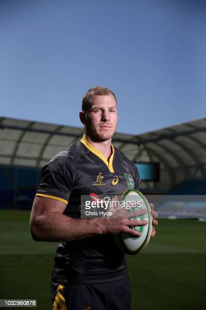 David Pocock poses during an Australian Wallabies Captain's Run at Cbus Super Stadium on September 14, 2018 in Gold Coast, Australia.
