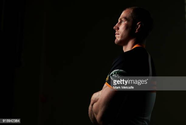 David Pocock poses during an Australian Wallabies media opportunity at Rugby Australia HQ on February 9 2018 in Sydney Australia