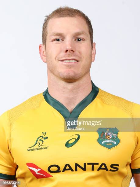 David Pocock poses during the Australian Wallabies headshot session on May 7 2018 in Gold Coast Australia