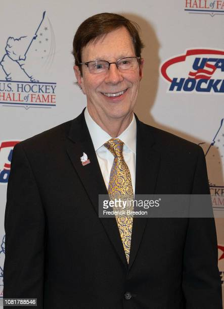 David Poile poses for a photo at the U.S. Hockey Hall Of Fame Induction on December 12, 2018 in Nashville, Tennessee.