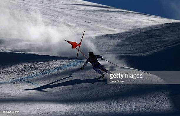 David Poisson of France competes during downhill training for the Audi FIS Ski World Cup on the Birds of Prey on December 2 2015 in Beaver Creek...