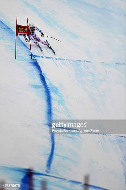 David Poisson of France competes during the Audi FIS Alpine Ski World Cup Men's Downhill Training on December 19 2013 in Val Gardena Italy