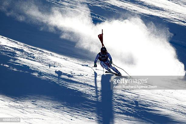 David Poisson of France competes during the Audi FIS Alpine Ski World Cup Men's Downhill Training on December 02 2014 in Beaver Creek Colorado