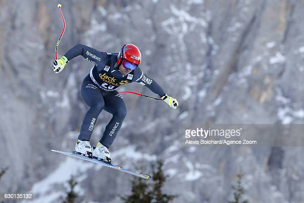 David Poisson of France competes during the Audi FIS Alpine Ski World Cup Men's Downhill on December 17 2016 in Val Gardena Italy