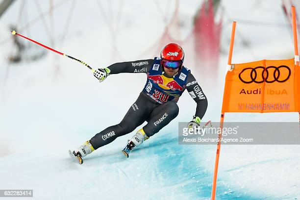 David Poisson of France competes during the Audi FIS Alpine Ski World Cup Men's Downhill on January 21 2017 in Kitzbuehel Austria