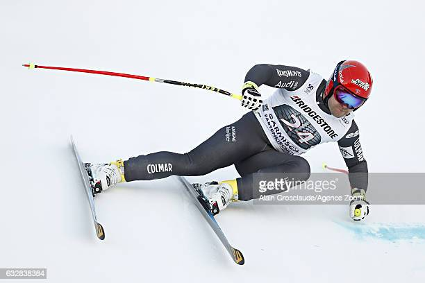 David Poisson of France competes during the Audi FIS Alpine Ski World Cup Men's Downhill on January 27 2017 in GarmischPartenkirchen Germany