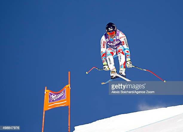 David Poisson of France during the Audi FIS Alpine Ski World Cup Men's Downhill Training on November 26 2015 in Lake Louise Canada