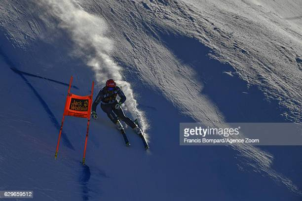David Poisson of France in action during the Audi FIS Alpine Ski World Cup Men's Downhill Training on December 14 2016 in Val Gardena Italy