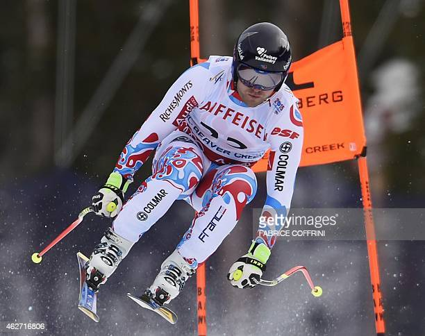 David Poisson of France races during the 2015 World Alpine Ski Championships men's downhill training February 3 2015 in Beaver Creek Colorado AFP...