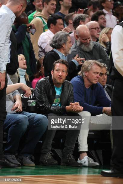 David Portnoy attends a game between Boston Celtics and Milwaukee Bucks in Game Four of the Eastern Conference Semifinals of the 2019 NBA Playoffs on...