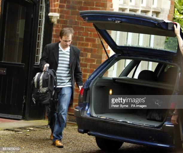 David Prescott son of Deputy Prime Minister John Prescott leaves the family home in the Sutton area of Hull