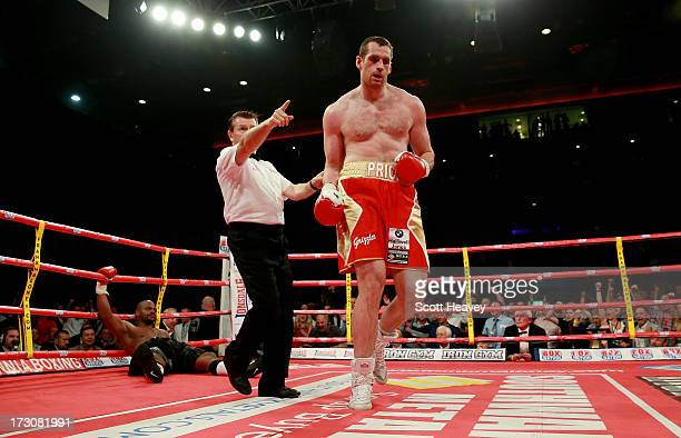 David Price of England in action with Tony Thompson of United States during their International Heavyweight Fight on July 6 2013 in Liverpool England