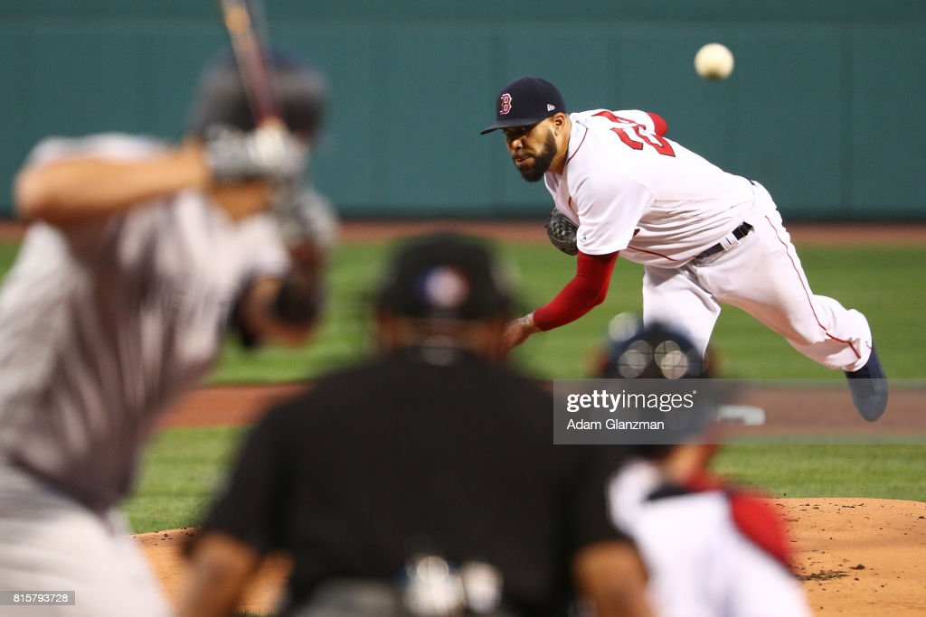 David Price #24 of the Boston Red Sox delivers in the first inning of game two of a doubleheader against the New York Yankees at Fenway Park on July