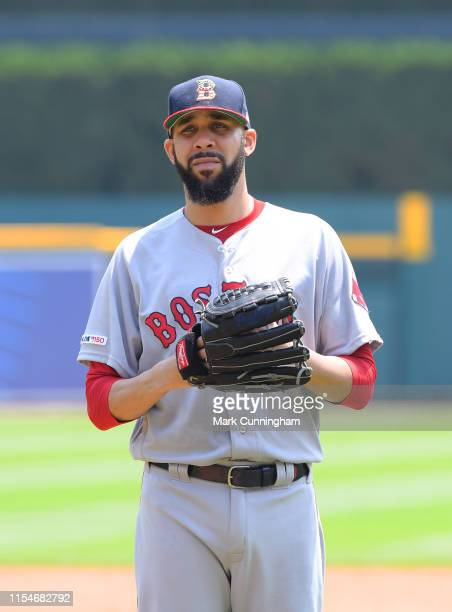 David Price of the Boston Red Sox looks on during the game against the Detroit Tigers at Comerica Park on July 7, 2019 in Detroit, Michigan. The Red...
