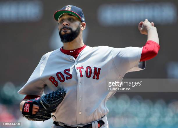 David Price of the Boston Red Sox pitches against the Detroit Tigers during the second inning at Comerica Park on July 7, 2019 in Detroit, Michigan.