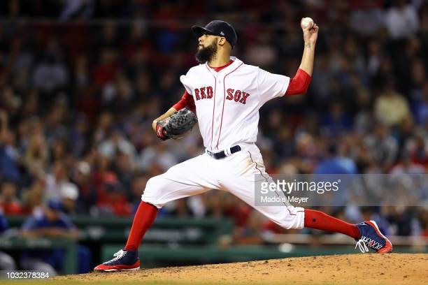 David Price of the Boston Red Sox pitches against the Toronto Blue Jays during the sixth inning at Fenway Park on September 12 2018 in Boston...