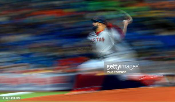 David Price of the Boston Red Sox pitches during a game against the Tampa Bay Rays at Tropicana Field on July 24 2019 in St Petersburg Florida