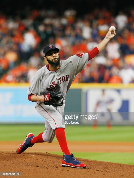 David Price of the Boston Red Sox pitches in the first inning against the Houston Astros during Game Five of the American League Championship Series...