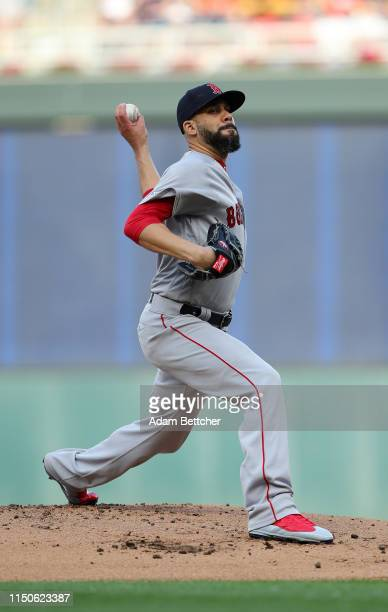 David Price of the Boston Red Sox pitches in the first inning against the Minnesota Twins at Target Field on June 18, 2019 in Minneapolis, Minnesota.