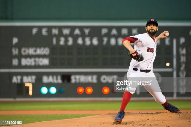 David Price of the Boston Red Sox pitches in the first inning against the Chicago White Sox at Fenway Park on June 25, 2019 in Boston, Massachusetts.