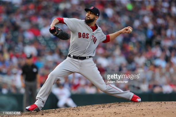 David Price of the Boston Red Sox pitches in the fourth inning against the Minnesota Twins at Target Field on June 18, 2019 in Minneapolis, Minnesota.