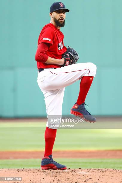 David Price of the Boston Red Sox pitches in the second inning during game two of a double header against the Tampa Bay Rays at Fenway Park on June...