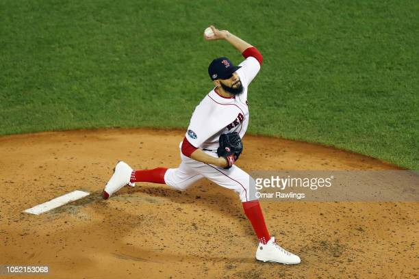 David Price of the Boston Red Sox pitches in the second inning against the Houston Astros during Game Two of the American League Championship Series...