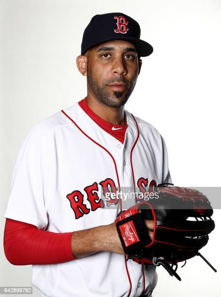 David Price of the Boston Red Sox poses for a portrait during the Boston Red Sox photo day on February 19 2017 at JetBlue Park in Ft Myers Florida