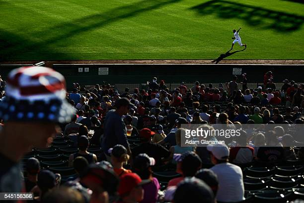 David Price of the Boston Red Sox warms up in the outfield before the game against the Texas Rangers at Fenway Park on July 5 2016 in Boston...
