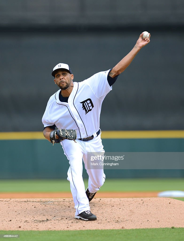 David Price #14 of the Detroit Tigers pitches during the Spring Training game against the New York Mets at Joker Marchant Stadium on March 21, 2015 in Lakeland, Florida. The Tigers defeated the Mets 6-4.