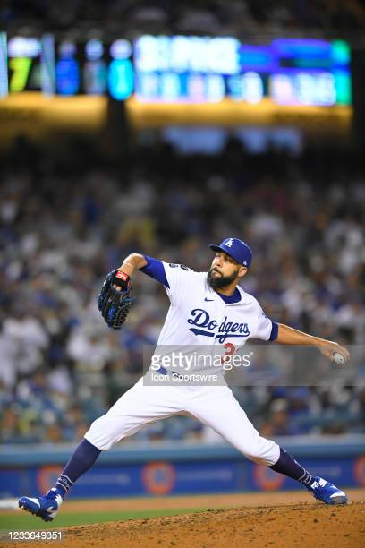 David Price of the Los Angeles Dodgers pitches against the Chicago Cubs on June 24, 2021 at Dodger Stadium in Los Angeles, CA.