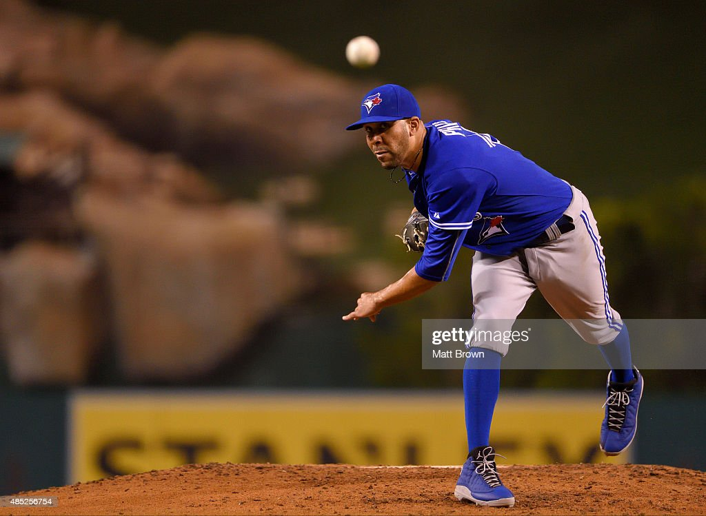 Toronto Blue Jays v Los Angeles Angels of Anaheim : News Photo