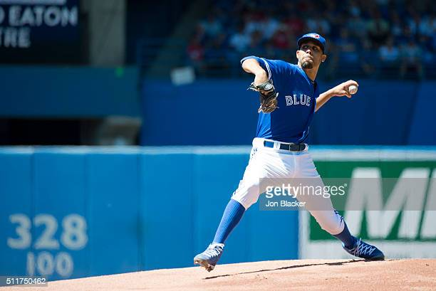 David Price of the Toronto Blue Jays pitches during the game against the Minnesota Twins at the Rogers Centre on Monday August 3 2015 in Toronto...