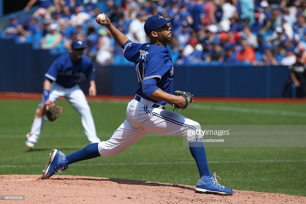David Price #14 of the Toronto Blue Jays pitches in the fourth inning during MLB game action against the Baltimore Orioles on September 5, 2015 at Rogers Centre in Toronto, Ontario, Canada.