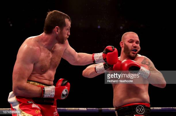 David Price punches Tom Little during the Heavyweight fight between David Price and Tom Little at The O2 Arena on December 22 2018 in London England