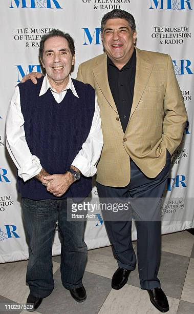 David Proval and Vincent Pastore during The Museum of Television and Radio Presents The Whacked Sopranos at Museum of Television Radio in New York...