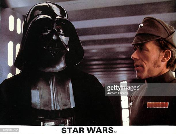 David Prowse as Darth Vader in a scene from the film 'Star Wars' 1977