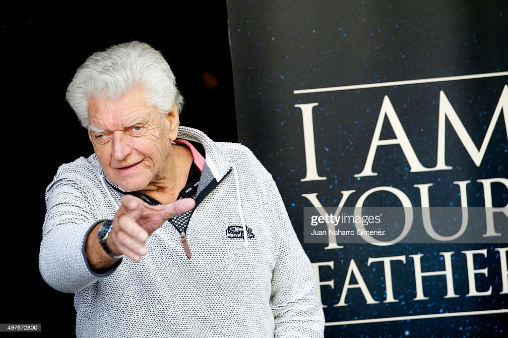 David Prowse (Darth Vader) attends 'I Am Your Father' photocall at Verdi Cinema on November 18, 2015 in Madrid, Spain.