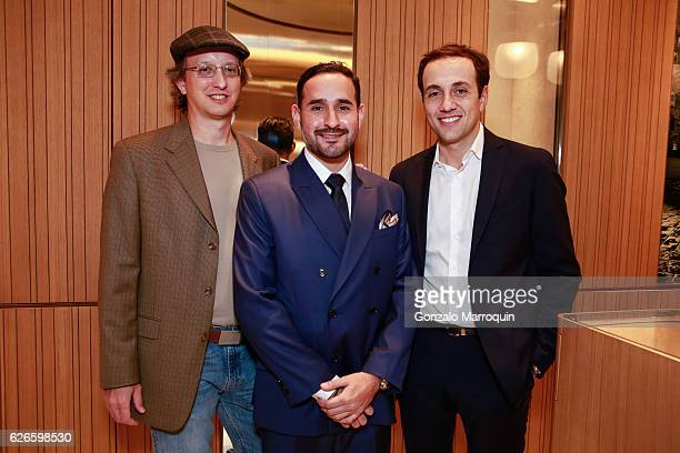 David PugsleyEsteban Palacino and Giovanni Carestia at the Angelo Bonati Celebrates SHoP Architects the Winner of the 2016 Panerai Design Miami...