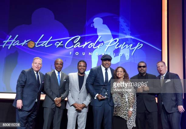 David Pump Sugar Ray Leonard Anthony Anderson LL Cool J Debbie Allen Ice Cube and Dana Pump attend the 17th Annual Harold Carole Pump Foundation Gala...