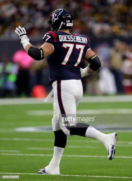 David Quessenberry of the Houston Texans enters the game against the Pittsburgh Steelers at NRG Stadium on December 25, 2017 in Houston, Texas.