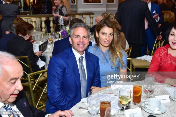 David R Weinreb and Ana Laspetkovski attend the Alzheimer's Drug Discovery Foundation's Ninth Annual Fall Symposium Luncheon at The Pierre Hotel on...