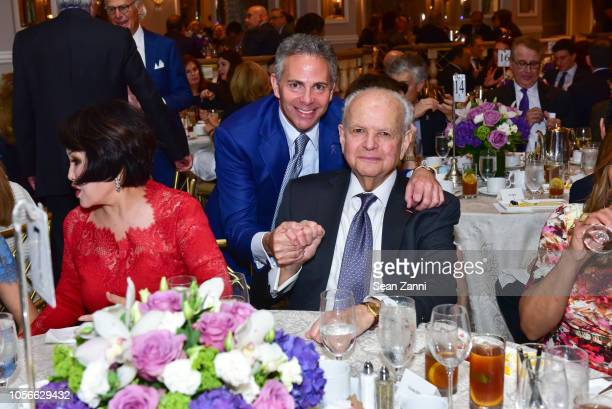 David R Weinreb and Burt Tansky attend the Alzheimer's Drug Discovery Foundation's Ninth Annual Fall Symposium Luncheon at The Pierre Hotel on...