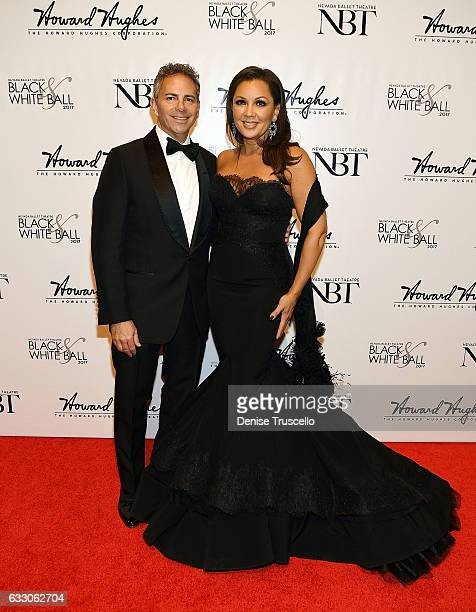 David R Weinreb and Vanessa Williams arrive at the Nevada Ballet Theatre's 2017 Woman of the Year Gala at the Aria Resort Casino on January 28 2017...