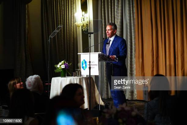 David R Weinreb speaks during the Alzheimer's Drug Discovery Foundation's Ninth Annual Fall Symposium Luncheon at The Pierre Hotel on November 2 2018...